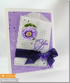A peek-a-boo envelope card created using new Waltzingmouse Stamps' images.