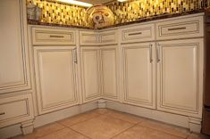 Kitchen cabinetry with Chalk Paint (Old Ochre) and Annie Sloan Lacquer. check out the complete re-do on www.robynstorydesigns.blogspot.com