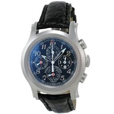 Cuervo y Sobrinos Men's 2859.1N Robusto Cronografo Chronograph Watch -  This cuervo y sobrinos, robusto cronografo model, is a round man's chronograph watch in stainless steel with black skip dial and sweep second hand, has an alligator strap with deployant buckle and is suitable for casual or dress wear. - http://newtimepieces.com/cuervo-y-sobrinos-mens-2859-1n-robusto-cronografo-chronograph-watch/