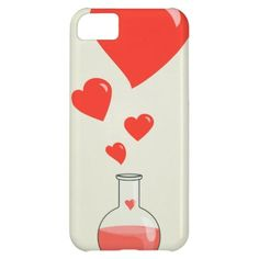 Flask of Hearts Chemistry Geek iPhone 5C Cover, New by Boriana Giormova in category Mobile. #valentines #hearts #iphonecase