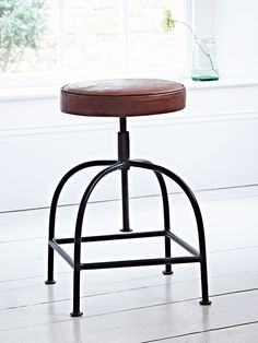 Leather Twist Stool - Kitchen & Dressing Table Stools - Luxury Seating - Luxury Home Furniture