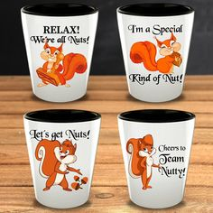 Squirrels Gifts Funny Shot Glasses Squirrel Lover Animal Owner Pets Gifts Fathers Day Gift For Her for Him Friend Birthday Christmas Funny Shot Glasses, Unique Gifts, Great Gifts, Glass Material, Friend Birthday, Squirrels, Gifts For Father, Order Prints, Shots