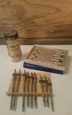 Vintage Monarch Milking Tubes Umbilical Tape Hypodermic Needles