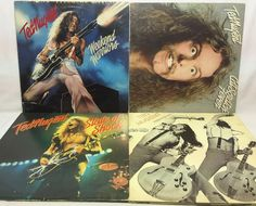 Ted Nugent Vinyl Record Lot of 4 Record Albums - State of Shock Free for All etc