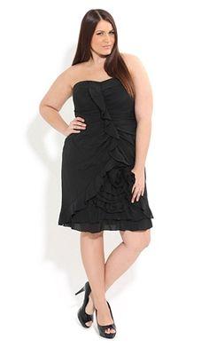ruffle rose dress