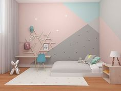 room colors for girls bedroom ~ room colors Girls Room Paint, Girl Room, Girls Bedroom Ideas Paint, Bedroom Wall, Bedroom Decor, Bedroom Colors, Modern Bedroom, Girl Bedroom Designs, Kids Room Design