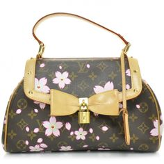 Louis Vuitton Cherry Blossom Sac Retro Bag Brown