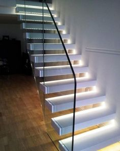 How properly to light up your indoor stairway stairways lights and basements - Illuminazione scale interne led ...