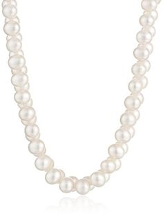 Sterling Silver and A-Quality Freshwater Cultured Pearl Necklace (7.5-8mm) - List price: $295.00 Price: $33.00