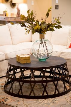 Fabulous coffee table -As seen on HGTV's Fixer Upper Home And Living, Decor, Home Living Room, Home, Home Diy, Family Room, Home And Garden, Coffee Table, Home Decor