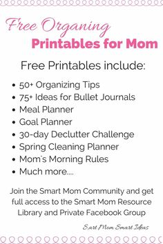 Free printables | Free Organizing printables | Organziation printables | printables for moms