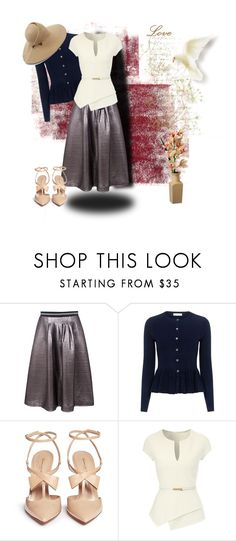 """Untitled #1239"" by ellyandeddy-mendo ❤ liked on Polyvore featuring Markus Lupfer, Rebecca Taylor, Gianvito Rossi, Jane Norman and Eugenia Kim"