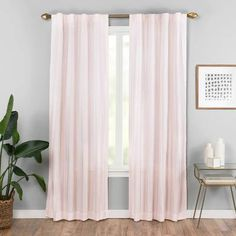 Give your windows a classic and simple update with the Vaughan Rod Pocket/Back Tab Window Curtain Panel. Crafted from polyester, this curtain panel features subtle stripes and can hang easily on a rod pocket or back tab. Grommet Curtains, Drapes Curtains, Velvet Curtains, Curtain Panels, Thing 1, Colorful Curtains, Layered Curtains, Mattress Brands, Room Darkening