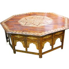 Inlaid Syrian Coffee Table. Would love something like this for a centerpiece to my room.