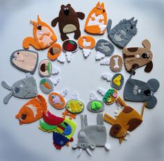 "DIY Felt Animals w/ Magnets""Treats for the animals,"" who eats what - Crafts - Babyblog.ru"