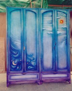 Hand painted Closet _Design and creation by Menahem & Mary Lavee