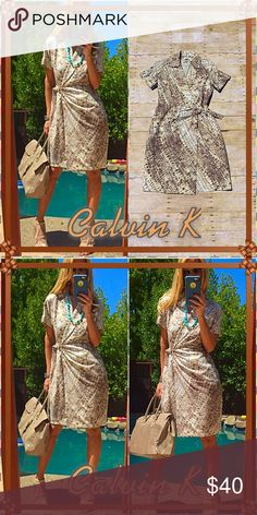 👜Calvin👜 This CK snap wrap slip in dress is killer, bottom line. Smooth, feet in snap up toe belt Oh la la talk about powerhouse my working woman👜 you need this chic piece. Pristine, condition:9/10 endless possibilities here!. Do it!👜 Calvin Klein Dresses
