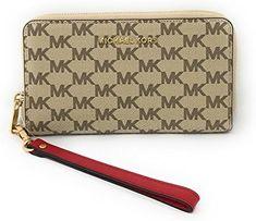 73432810f0e1 MICHAEL Michael Kors Studio Jet Set Signature Large Multifunction Phone  Wallet