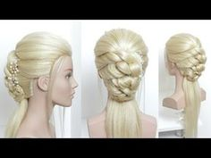 Half Up Half Down Updo For Prom, Wedding. - YouTube