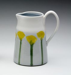 Yellow Gingko Jug Liz & Alex Wedding Registry by dahlhaus on Etsy, $81.00