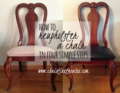 Reupholstery is cost effective and unbelievably easy. Learn how to reupholster a chair in four simple steps.