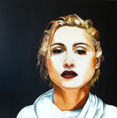 Madonna painted by Nathalie Heuts in oil