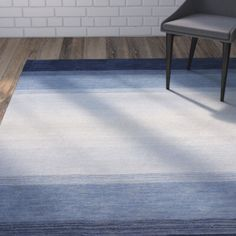 Guadeloupe Hand-Woven Blue Area Rug
