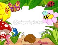 Vector illustration of Cartoon small . Boarder Designs, Page Borders Design, Preschool Classroom Decor, Preschool Crafts, Free Certificate Templates, Photo Frame Design, School Murals, Cool Paper Crafts, Murals For Kids