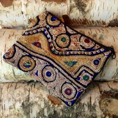 Ethnic indian purse  Banjara bag  Indian by RubySparrowDesign