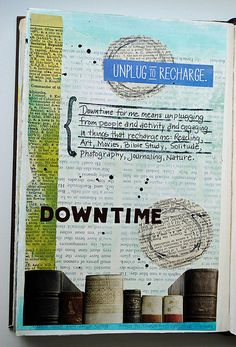 Downtime, via Flickr. I like that the background words are seen but don't distract from the words meant to be read