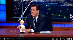 Stephen Colbert and the Pope Francis plush!
