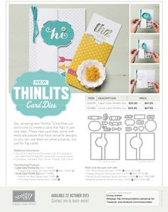 Thinlits Promotion- available from Chrissy Graham  Independent Stampin' Up! Demonstrator  - http://chrissyscreations.stampinup.net Find me on Facebook: www.facebook.com/chrissycreates