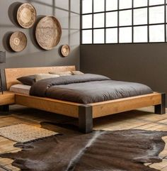 30 DIY Platform Bed You Can Make - Storage appears to be a problem with me since I'm a significant hoarder, so I'm always searching for helpful storage suggestions to continue to keep my clutter organized. This incredible DIY platform bed frame has … Bed Frame Design, Bedroom Bed Design, Modern Bedroom, Bedroom Ideas, Diy Bedroom, Wood Bed Design, Bed Ideas, Modern Wood Bed, Trendy Bedroom