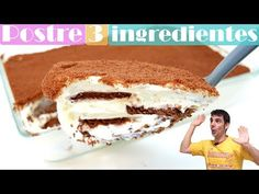 POSTRE con solo 3 INGREDIENTES extremamente delicioso 🍰🥧¡en 10 MINUTOS de trabajo!🍰🥧 - YouTube 3 Ingredient Cookies, Sin Gluten, Biscotti, Tiramisu, Cake Recipes, Food And Drink, Chocolate, Sweet, Ethnic Recipes