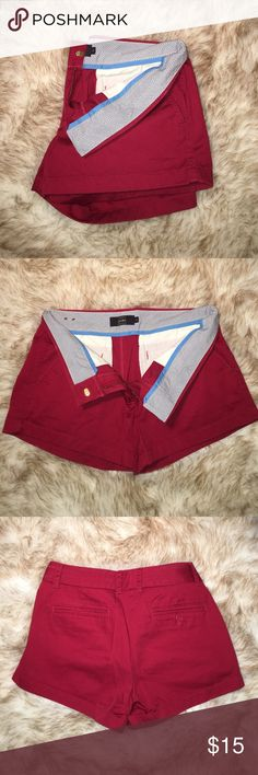 """J. Crew 3"""" chino Shorts red size 6 Gently used. No flaws. Comes from pet free and smoke free home. J. Crew Shorts"""