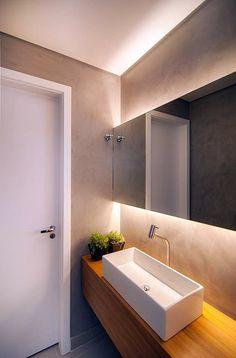 22 ideas for bathroom renovations tile shower floor Home, Trendy Bathroom, Lighted Bathroom Mirror, Small Shower Remodel, Bathroom Mirror, Bathroom Interior, Small Bathroom, Bathroom Renovations, Bathroom Decor