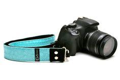 Aqua Snake Skin Animal SLR camera strap
