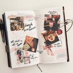 A week ago. Bujo Inspiration, Art Journal Inspiration, Journal Ideas, Bullet Journal Inspo, My Journal, Journal Layout, Scrapbook Journal, Travel Scrapbook, Filofax