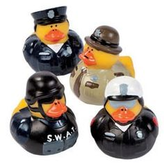 Police Party Theme Decorations | Police Party Supplies, Law Enforcement Rubber Duckies