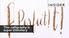 Make Your Gold Calligraphy Shimmer! #BuyNUse #BuyNUseCalligraphy #BeCreative #Calligraphy