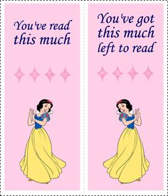 Disney Princess Bookmarks 2 Cool Bookmarks, Party Planning, Snow White, Cross Stitch, Paper Crafts, Teaching, Disney Princess, Prints, Parties
