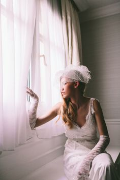 """""""Love in Paris"""" by Victoria Kyriakides.. Inspired by a romantic night at the magical Montmartre place in Paris, this #gown is made of exquisite French Chantilly lace with a low back see more : http://www.love4wed.com/bridal-styled-shoot-victoria-kyriakides/"""