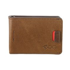 Agog™ Mens Ultra Slim Bifold Leather Wallet Pull Tab with Money Clip Brown at… #amazon #mensfashion #mens #wallet #shop