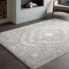 Shop for Gracewood Hollow Ishmael Floral Medallion Grey Area Rug - x Get free delivery On EVERYTHING* Overstock - Your Online Home Decor Store! Get in rewards with Club O! Thing 1, Indoor Rugs, Rug Cleaning, Birch Lane, Latex Free, Online Home Decor Stores, Online Shopping, Colorful Rugs, Rug Size