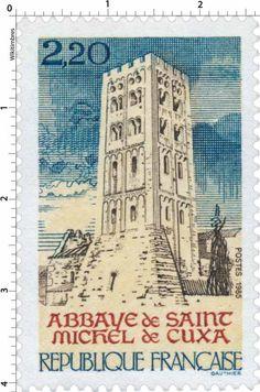 Timbre : 1985 ABBAYE de SAINT MICHEL de CUXA | WikiTimbres