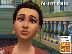 Sims 4 Boucles d'oreille Citrouille