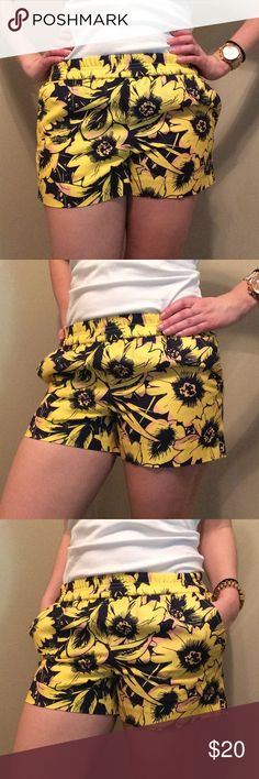 🆕J.Crew shorts Like new. Stretchy waist. Pockets. Comfy linen fabric. I'm typically size 4-6, but these fit well. J. Crew Shorts