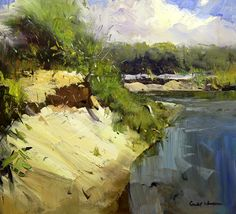 Oil painting by Colley Whisson Abstract Landscape Painting, Landscape Art, Landscape Paintings, Watercolor Paintings, Painting Trees, Oil Paintings, Mary Cassatt, Australian Artists, Art Oil