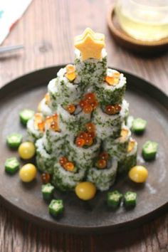 Sushi Christmas Tree- Hoho Yummy!