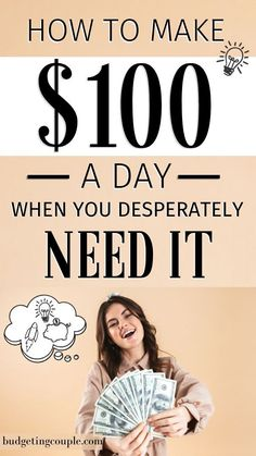 Want to make some *easy* money from phone? Or your car? Check out the best 35 side hustle ideas to start making $100+ every single day. These money making ideas will bring in extra cash and even an extra income without much work. Click the pin to get the (best) making money ideas! Budgeting Couple | Budgeting Couple Blog | BudgetingCouple.com Make 100 A Day, Make Money From Home, Way To Make Money, Make Money Online, How To Make, No Spend Challenge, Money Saving Challenge, Money Saving Tips, Money Hacks